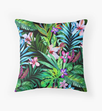 Tropical Fest Throw Pillow