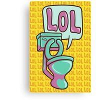 Toilet Humour Canvas Print