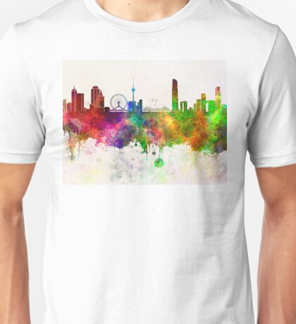 Tianjin skyline in watercolor background Unisex T-Shirt