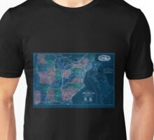 0238 Railroad Maps Map of the Cincinnati Southern Railway and connections Published for the Cincinnati Southern Inverted Unisex T-Shirt