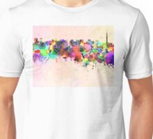 Tokyo skyline in watercolor background Unisex T-Shirt