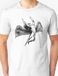 ICARUS FLIPS THE BIRD - black - NEW!!!! Unisex T-Shirt