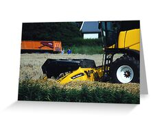 New Holland CX720 Wheat harvest  Greeting Card