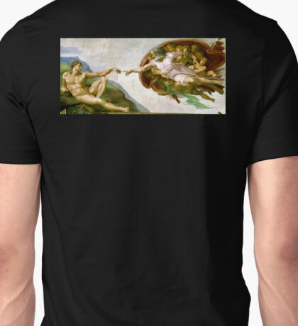Michelangelo, The Creation of Adam, 1510, Genesis, Ceiling, Sistine Chapel, Rome, Touch of God Unisex T-Shirt