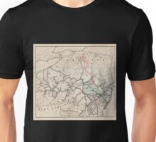 0352 Railroad Maps Map of the Pennsylvania Reading and Lehigh Valley Railroads and their Unisex T-Shirt