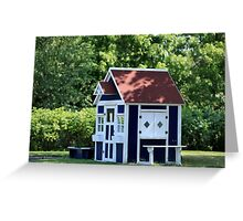 playhouse in the garden Greeting Card
