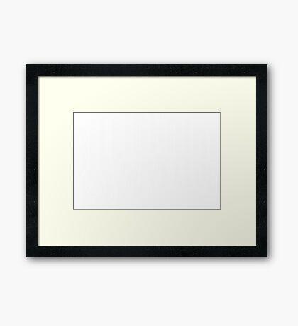 BBC White Framed Print