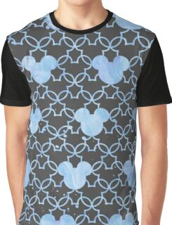 Mouse Ears Watercolor in Blue Graphic T-Shirt