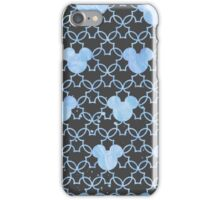 Mouse Ears Watercolor in Blue iPhone Case/Skin