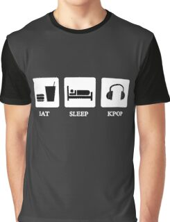eat sleep kpop Graphic T-Shirt
