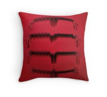 Wall Drip Red Throw Pillow