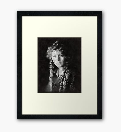Mary Pickford Vintage Actress Framed Print