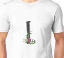 Monogram L with Floral Wreath Unisex T-Shirt