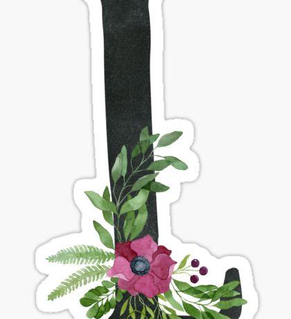 Monogram L with Floral Wreath Sticker