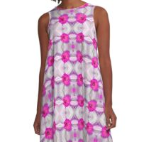Pink Daffodils (VN.65) A-Line Dress