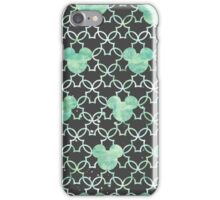 Mouse Ears Watercolor in Mint Green iPhone Case/Skin