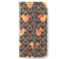 Mouse Ears Watercolor in Orange iPhone Wallet/Case/Skin