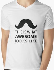 Awesome Mustache Mens V-Neck T-Shirt