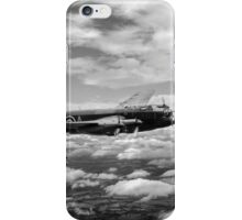 617 Squadron Tallboy Lancasters black and white version iPhone Case/Skin