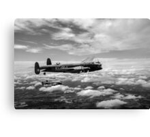 617 Squadron Tallboy Lancasters black and white version Canvas Print