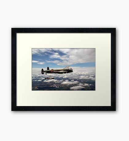 617 Squadron Tallboy Lancasters Framed Print