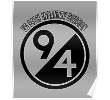US 94TH INFANTARY DIVISION Poster