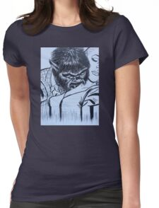 by night  Womens Fitted T-Shirt
