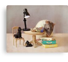 Which book shall I read now? Canvas Print