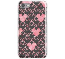 Mouse Ears Watercolor in Pink iPhone Case/Skin