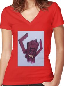 helmet of galactus Women's Fitted V-Neck T-Shirt