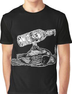 Drunk Crow Graphic T-Shirt