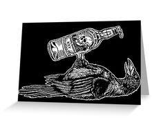 Drunk Crow Greeting Card