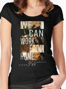 FIFTH HARMONY PHOTOSHOOT, WE CAN WORK FROM HOME Women's Fitted Scoop T-Shirt