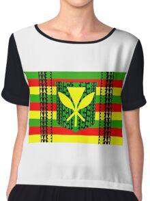 Tribal Kanaka Maoli Chiffon Top