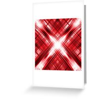 Red cross and grid pattern Greeting Card
