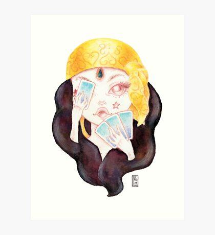 Tarot Gypsy Girl Art Print