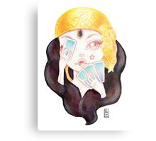 Tarot Gypsy Girl Metal Print