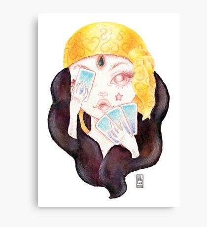 Tarot Gypsy Girl Canvas Print