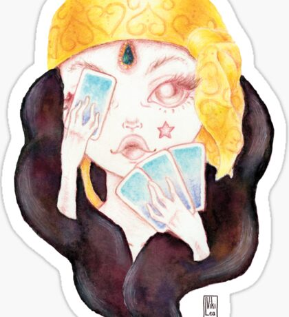 Tarot Gypsy Girl Sticker