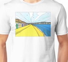 Beach Huts At Woolacombe. Unisex T-Shirt