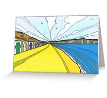 Beach Huts At Woolacombe. Greeting Card