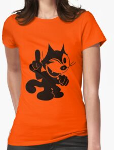 Felix the Cat Winking at.. Womens Fitted T-Shirt