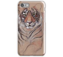 UNFINISHED BUSINESS - Original Tiger Drawing - Mixed Media (acrylic paint & pencil) iPhone Case/Skin