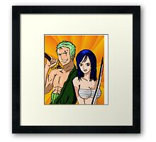 zoro and nami one piece Framed Print