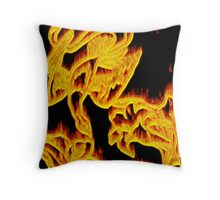 Phoenix Aflame Throw Pillow