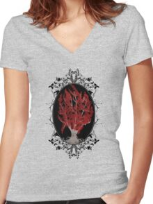 Weirwood Tree Women's Fitted V-Neck T-Shirt