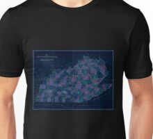 0119 Railroad Maps Map of Kentucky Tennessee exhitibing the post offices post roads canals rail roads c by David H Burr Late topographer to the Post Office Geographer to the Inverted Unisex T-Shirt