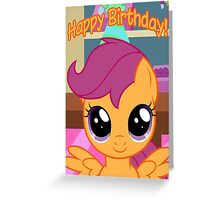 Scootaloo Birthday Card - Postcard My Little Pony Greeting Card