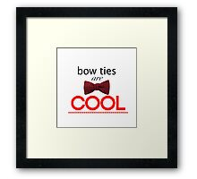 Doctor Who - Bow Ties Are Cool Framed Print