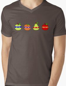 Teenage Mutant Ninja Fruit Mens V-Neck T-Shirt